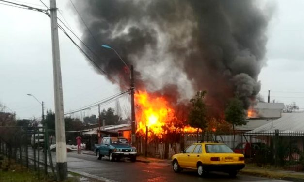 Adulto mayor muere en incendio en Machali