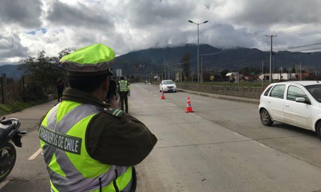 Carabineros realizan controles ante nueva ley de reducción de velocidad urbana