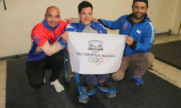 Pesista machalino convocado a la selección chilena para participar en campeonato de Para Powerlifting