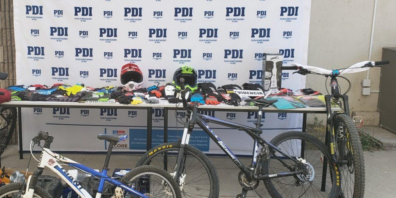 Recuperan especies robadas a tienda de bicicletas de Machali