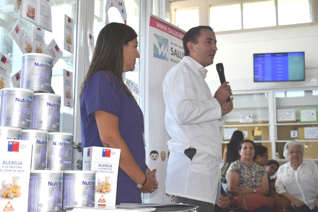 En Machalí se anunció gratuidad de leche para niños con alergia