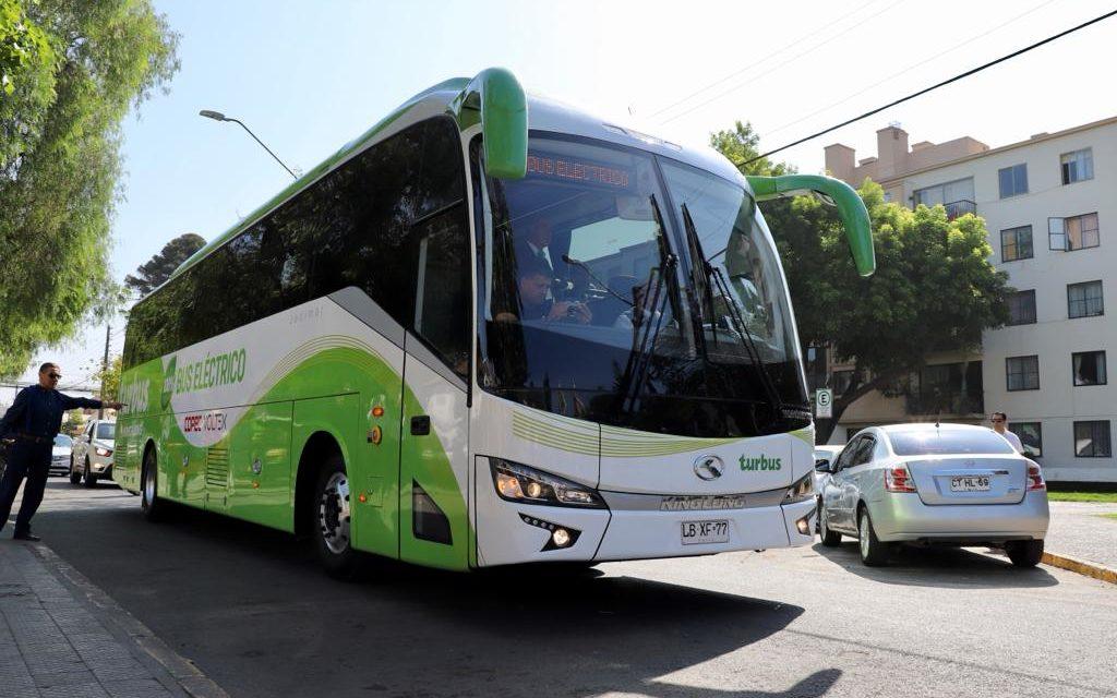 Debuta el primer bus eléctrico interurbano entre Santiago y Rancagua