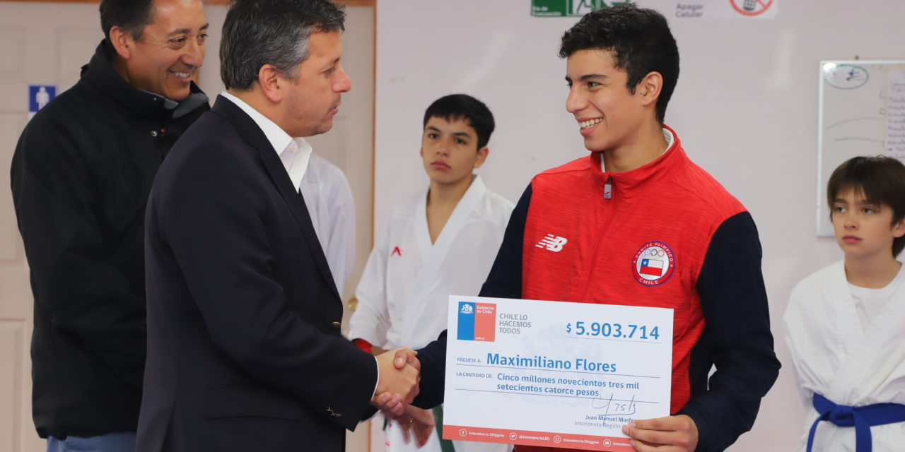 Entregan aporte a rancagüino N° 1 del ranking mundial junior de karate
