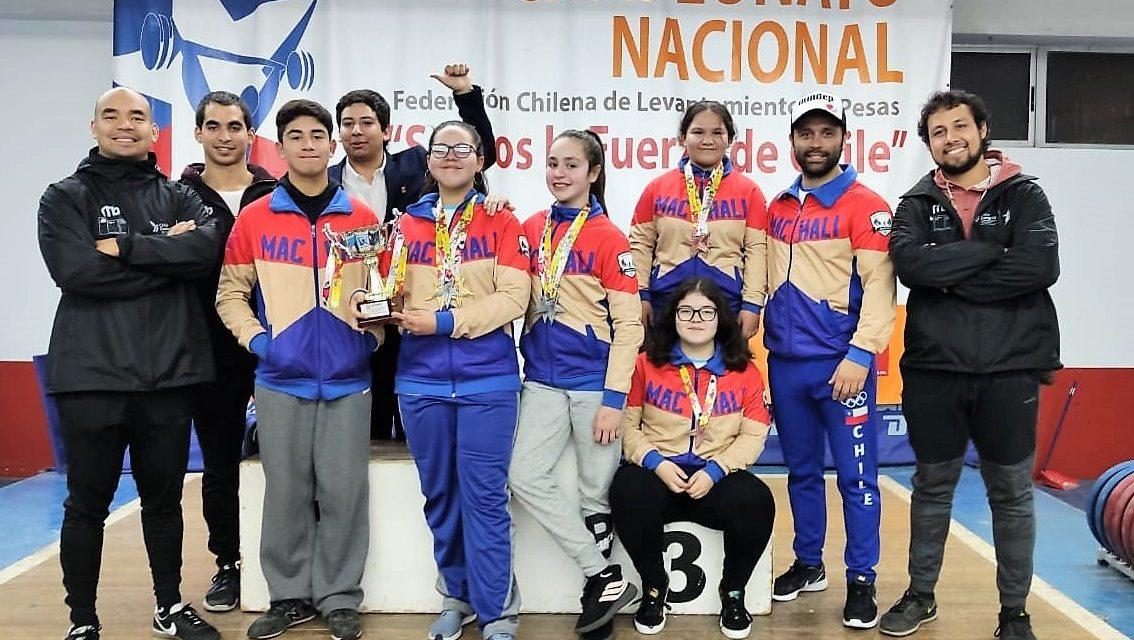 Halterofilia Machalina: Una campeona nacional y medallas por doquier