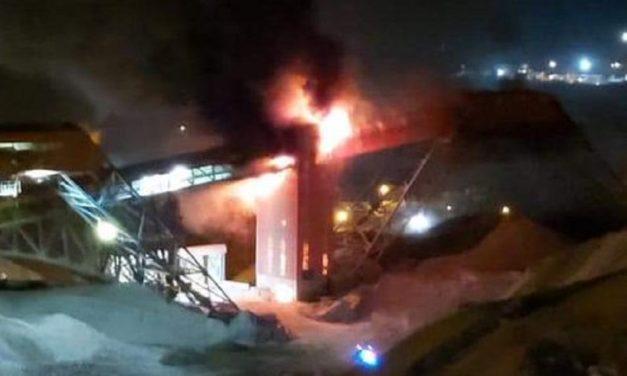 Incendio afectó a correa transportadora de División El Teniente