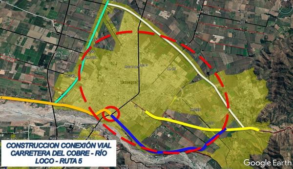 Inicia estudio de conexión vial que unirá conurbación lado sur Machalí-Rancagua