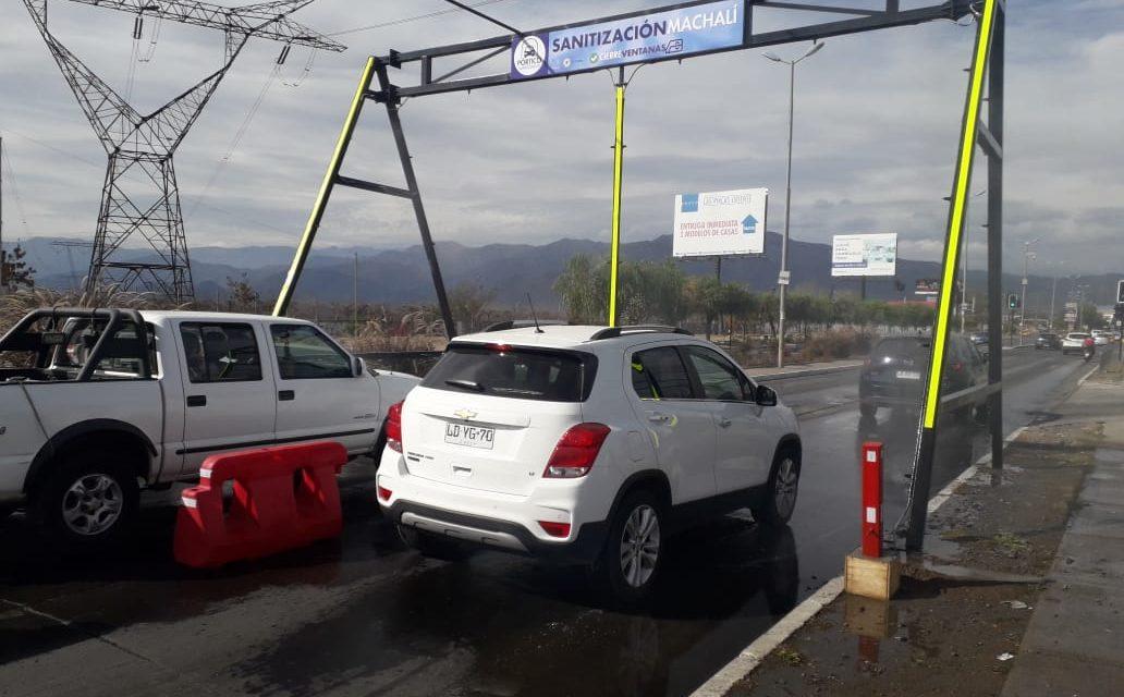 Instalan Pórtico Sanitizador en la entrada de Machalí