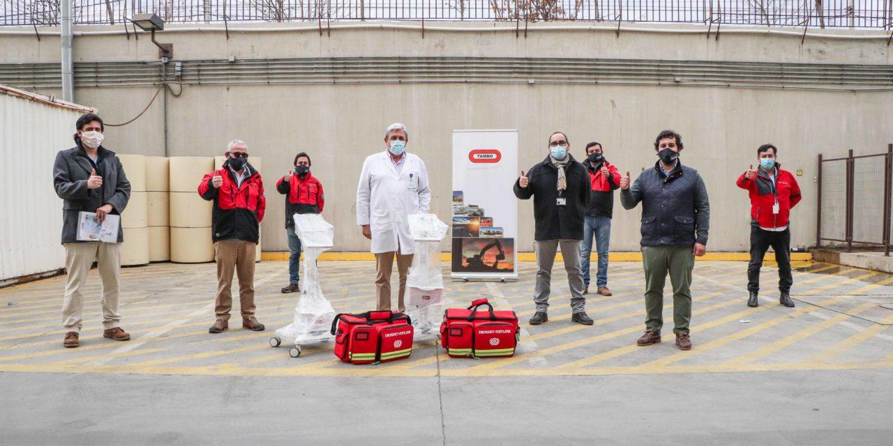 Empresa de Machalí dona dos ventiladores mecánicos al Hospital Regional