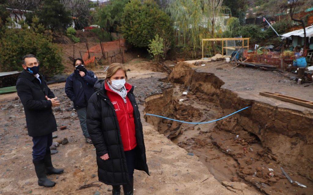 Inundaciones, cortes de ruta y socavón en Machalí fueron principales afectaciones por intensas lluvias en O´Higgins