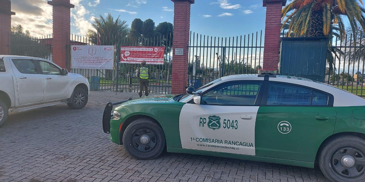 12 detenidos por participar en funeral sin permiso en Rancagua