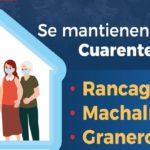 Se mantiene cuarentena para Machalí, Rancagua y Graneros