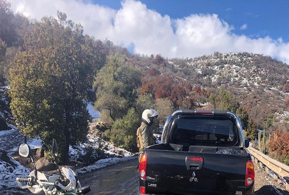 Detienen a 11 porfiados que querían ver la nieve en Coya