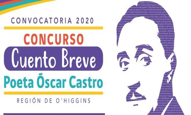O'Higgins convoca al concurso de cuento breve «Poeta Óscar Castro»