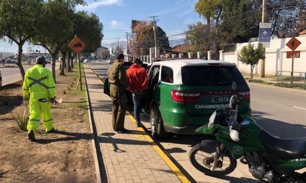 Dos detenidos por receptación e infringir cuarentena en Machalí