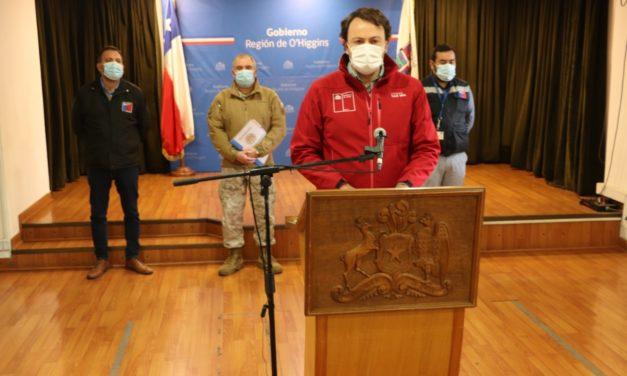 O´Higgins presentó 89 nuevos casos de coronavirus y 2 personas fallecidas