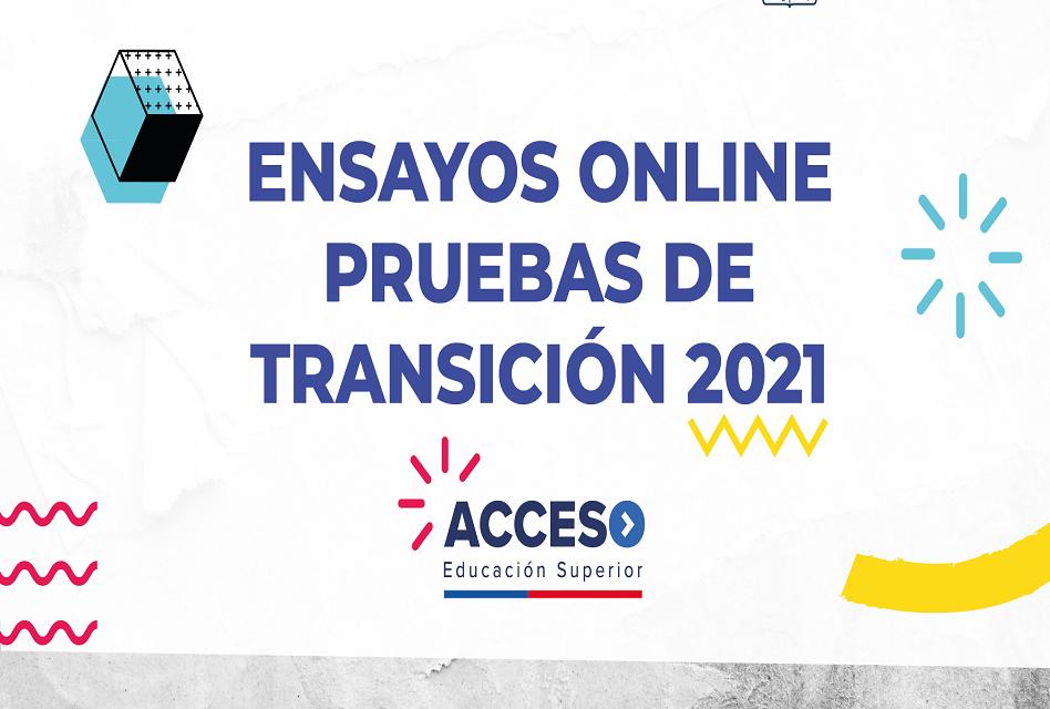 Publican ensayos online de la nueva Prueba de Transición 2021