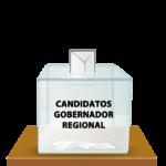 Listado de Candidaturas aceptadas para Gobernador Regional