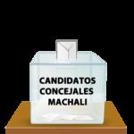 Listado de Candidaturas aceptadas para Concejales de Machalí