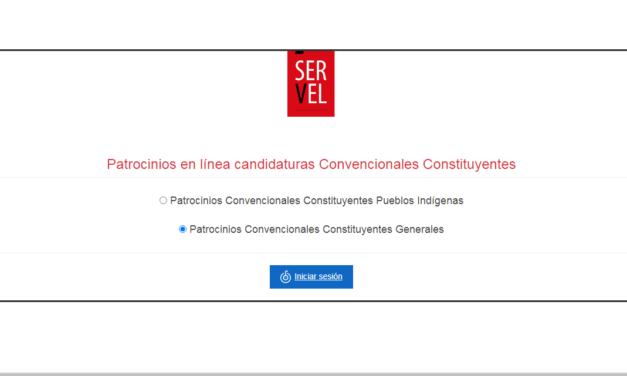 Lanzan portal para patrocinar candidaturas independientes a la Convención Constitucional