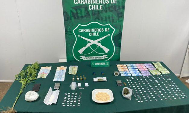 Con dos detenidos, marihuana, pasta base y  cocaína termina operativo en Machali