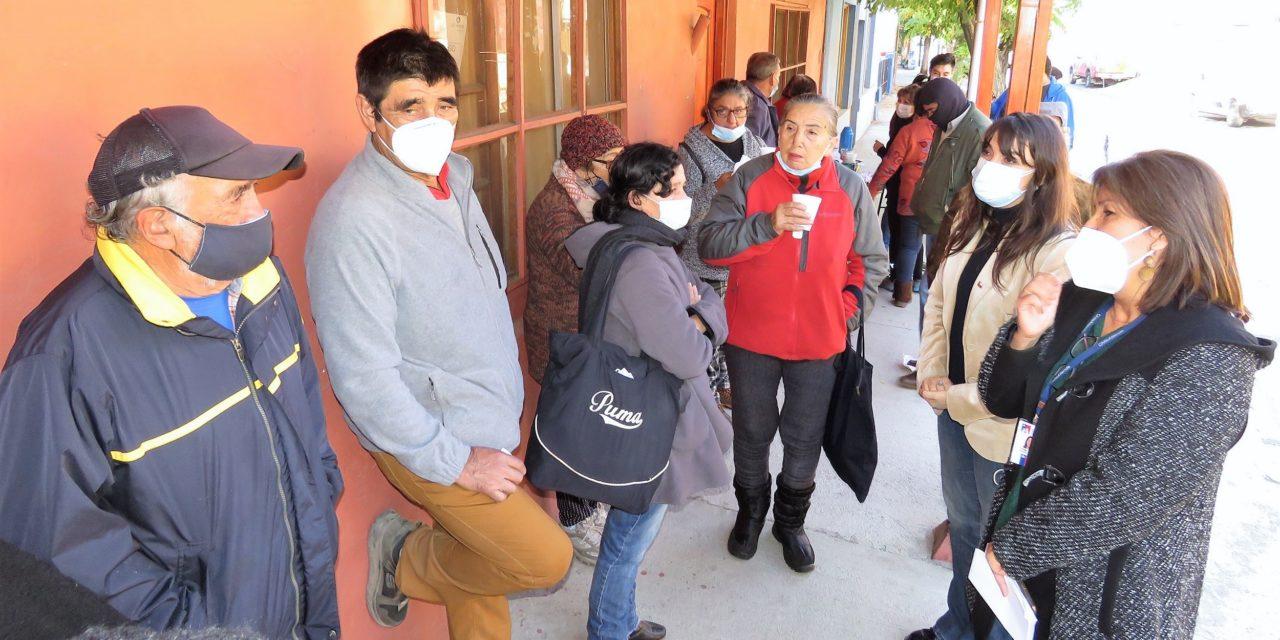 Autoridades visitan Coya para supervisar pago del Bono de Invierno
