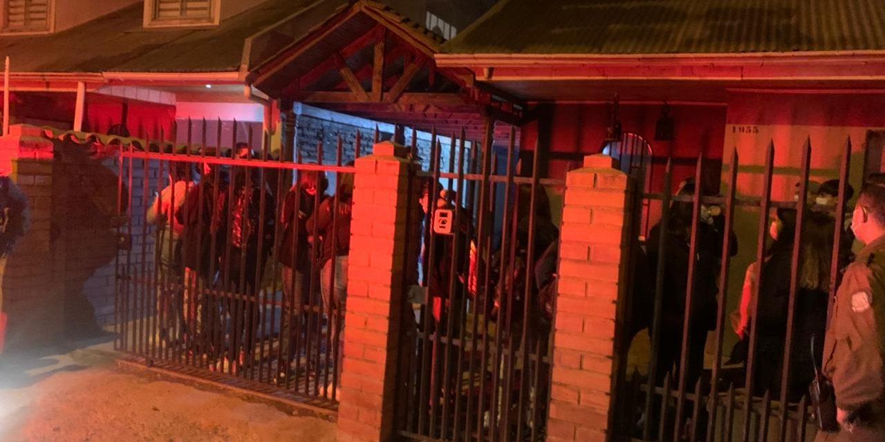 31 menores de edad fueron sorprendidos en Fiesta Clandestina en Rancagua