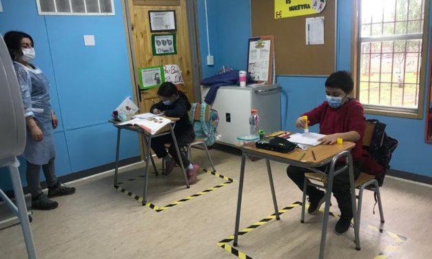 Escuela Rural de Chacayes comenzó clases presenciales de segundo trimestre