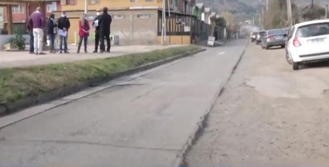 Anuncian pavimentación de Calle El LLano en Machali