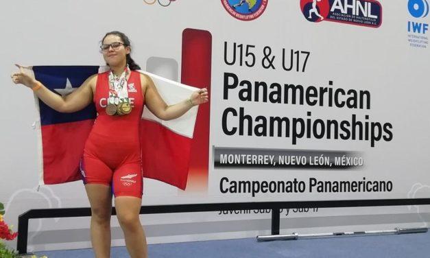Machalina Antonia Palominos obtiene oro y bronce en el Panamericano de Halterofilia